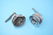 2PCS STAINLESS STEEL MARNE NON LOCKING COMPRESSION LIFT BOAT HATCH LATCH