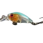 Fishing Lures, Napoo 9Pcs Kinds of Minnow Fish Bass Tackle Hooks Baits, 3D Soft Artificial Bait Crankbaits