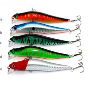 Fishing Lures, Napoo Durable 5pc Curved Fishing Artificial Bait 3D Fish Eye Bait Counterfeit Bait Fish Tackle Hooks