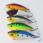 Fishing Lures, Napoo 5pc Fishing Bait + Guiding Lead Fish Sea FishingTackle Swivel Jig Wobbler Bait