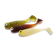 Fishing Lures, Napoo Portable 10pc Soft Fishing lure 3D Soft Tiddler Bait Swimbaits Plastic lure Tackle