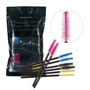 JasCherry 200 Pieces Disposable Mascara Wands Eyelash Brushes Makeup Applicators Kit, Multicoloured