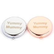 Slogan Compact Mirror - Yummy Mummy