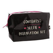 Selfie Preparation Kit Black Cosmetic Bag