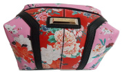 River Island Pink & Red Floral Large Cosmetic Bag
