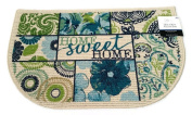 Mainstays Home and Kitchen Rug Non Skid Blue Green Beige Floor Mat