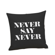 DKmagic Letter Printing Dyeing Sofa Bed Home Decor Pillow Case Cushion Cover