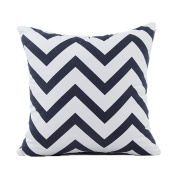 ZXKE Cushion Covers Stylish Waves Decorative Throw Pillow Cases Square 46cm X 46cm