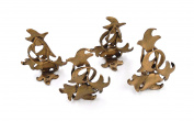 """""""Sassafras"""" Place Card Holders (Set of 4) by Michael Michaud for Silver Seasons Table Art"""