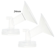 Nenesupply Generic Two 24MM Flanges for Spectra S2 Spectra S1 Spectra 9 Plus Breastpump. Made By Nenesupply. Not Original Spectra Flange Not Original Spectra Baby USA Parts Use with WideMouth Bottle