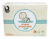 Hippo Sak® Antibacterial Nappy Disposal Bags with Controlled Life Plastic, 900 Count