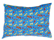 My Best Buddy Toddler Pillowcase- Trucks and engines design for your kids - 13 x 18 - shrinks to fit - 100% cotton - naturally hypoallergenic and soft - Made in USA
