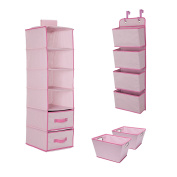 Delta Children Complete Nursery Organisation 3-Piece Set, Barely Pink