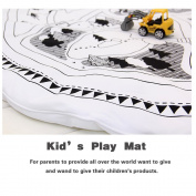 Hiltow Child Game Mats Car Track Puzzle Rug Baby Play Crawl Mat Round Mats