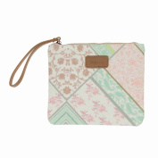 Codello Women's Cosmetic Bag '23x19 cm, Flower Digital 71041606, Cotton, Beige
