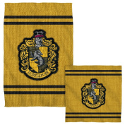 Hufflepuff Stitch Crest -- Harry Potter -- Face & Hand Towel Set