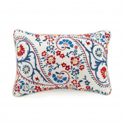 Jessica Simpson A056015MUIGE Gemma Paisley Dec Pillow, 30cm x 46cm , Blue/White Gemma Paisley Dec Pillow