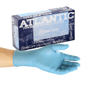 AmerCare Atlantic Nitrile Powdered Gloves, Small, Case of 1000