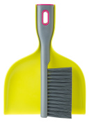 Vigar Rengo Handy Set, 2-Piece Dustpan and Brush Set, 19cm by 3.8cm by 25cm , Green, Grey