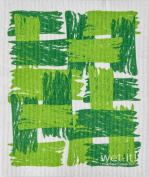 Swedish Treasures Wet-it! Cleaning Cloth, Patches in Green, Super Absorbent, Reusable, Biodegradable, All-purpose