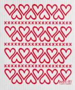 Swedish Treasures Wet-it! Cleaning Cloth, Hearts, Super Absorbent, Reusable, Biodegradable, All-purpose