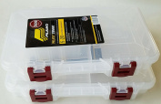 Stowaway Tackle Or Craft Organiser in a 2-Pack Storage Box with Dividers by Plano Moulding