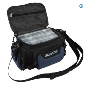 "Ozark Trail Blue Soft-Sided Fishing Tackle Storage Bag with 3 Utility Boxes 11x 7"" x 16cm"