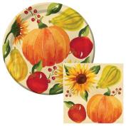 Harvest Abundance Lunch Plates & Napkins Party Kit for 8