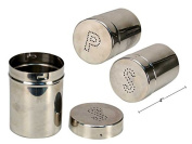 Luciano Commercial Stainless Steel Set Salt and Pepper Shakers 10cm tall