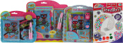 Girl's 4 Piece Gift Set - Cute Owl Stationery / Make Your Own Mosaic Jewellery