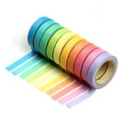 NUOLUX DIY Tape Sticky Paper Masking Adhesive Tape Scrapbooking DIY Decoration 10 Rolls
