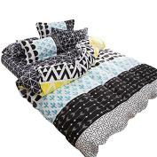 YOUSA Geometric Bedding Set Teens Bedding 3Pcs Duvet Cover Set(1 Duvet Cover + 2 Pillow Shams),Twin
