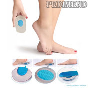 PEDIMEND Silicone Gel Heel Cups Spur Pads Support Cushions for Plantar Fasciitis (PAIR) - Relieve Soft Tissues Tension - Shock Absorbers - Foot Impact Protection - Running / Walking / Heel Pain Support Cushion Pads / Sore Arch Heels Orthotic Support