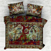 """Indian Tree Of Life Cotton Queen Duvet Cover Quilt Cover Bohemian Hippie Bedspread Quilt Handmade By """"Handicraft-Palace"""""""