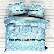 Indian Ombre Mandala Queen Size Comforter Hippie Boho Cotton Doona Duvet Cover Ethnic Queen Tapestry Duvet Cover Hippie By Handicraft-Palace