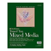 Strathmore Toned Mixed Media Pad 11x14 Tan