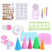 Paper Quilling DIY Craft Tool Scrapbooking Paper Multifunctional Board Full Kit Handmade Photo Work Board For Home Office Decoration, 19Pcs