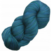 EASY SPINNING fibre Combed Top Pencil Roving. Super Soft Merino Wool for Spinning, Felting and Weaving. Multi Colours - 120ml Spruce