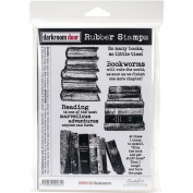 Darkroom Door Cling Stamps 7x5-Bookworm