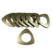 Triangle #15 Plastic Grommets , 5.4cm Id, 8 Sets, 8 Sets, Antique Brass