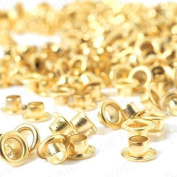 Trimming Shop 100 X 6Mm Gold Eyelets & Washers Grommets