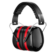 Tsumbay Ear Defenders Shooting Hearing Protector Safety Ear Muffs Folding - Padded Head Band Fits Adults to Kids & Ear Cups