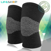 LifeShop Bamboo Knee Sleeves Knee Wraps Great for arthritis for Warming Up Knees for Support and Stability