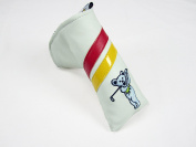 Sunfish Leather Putter Cover - Embroidered Grateful Dead Bear