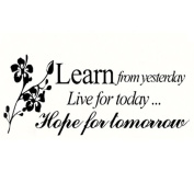 "Webla Letter ""Learn from Yesterday Live for Today Hope for Tomorow"" Family Decal Living Room Bedroom Vinyl Carving Wall Decal Sticker for Living Room Bedroom TV Background Decoration"