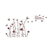 generic Wall Stickers Wall Decals Style Butterfly Catkins PVC Wall Stickers