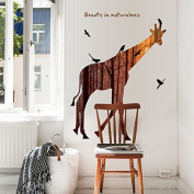 RUGAI-UE Giraffe modern style living room wall decoration wall stickers, 30*90*2cm