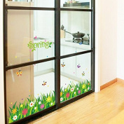 RUGAI-UE The butterfly and flowers stickers skirting wall decoration can remove the background of the kindergarten bedroom living room, 50*70CM