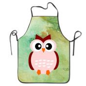 Cute Animal Cartoon Fall Owl BBQ Kitchen Cooking Apron