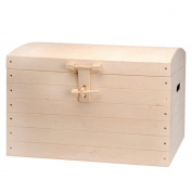 Wooden Box with Lid for Storage – Natural Pine Untreated 63 x 33.5 x 45 cm